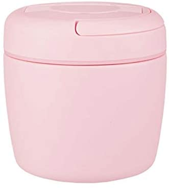 Fszhen-canh Efficient Insulation Lunch Box Travel Hiking Office School Portable Stainless Steel Food Container Double Layer Vacuum Bento Box (Color : Pink)