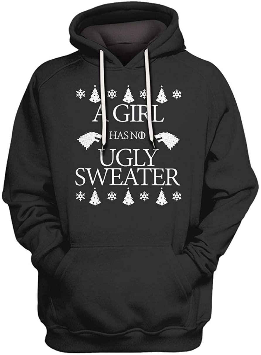 A Girl has no Ugly Christmas Hoodie