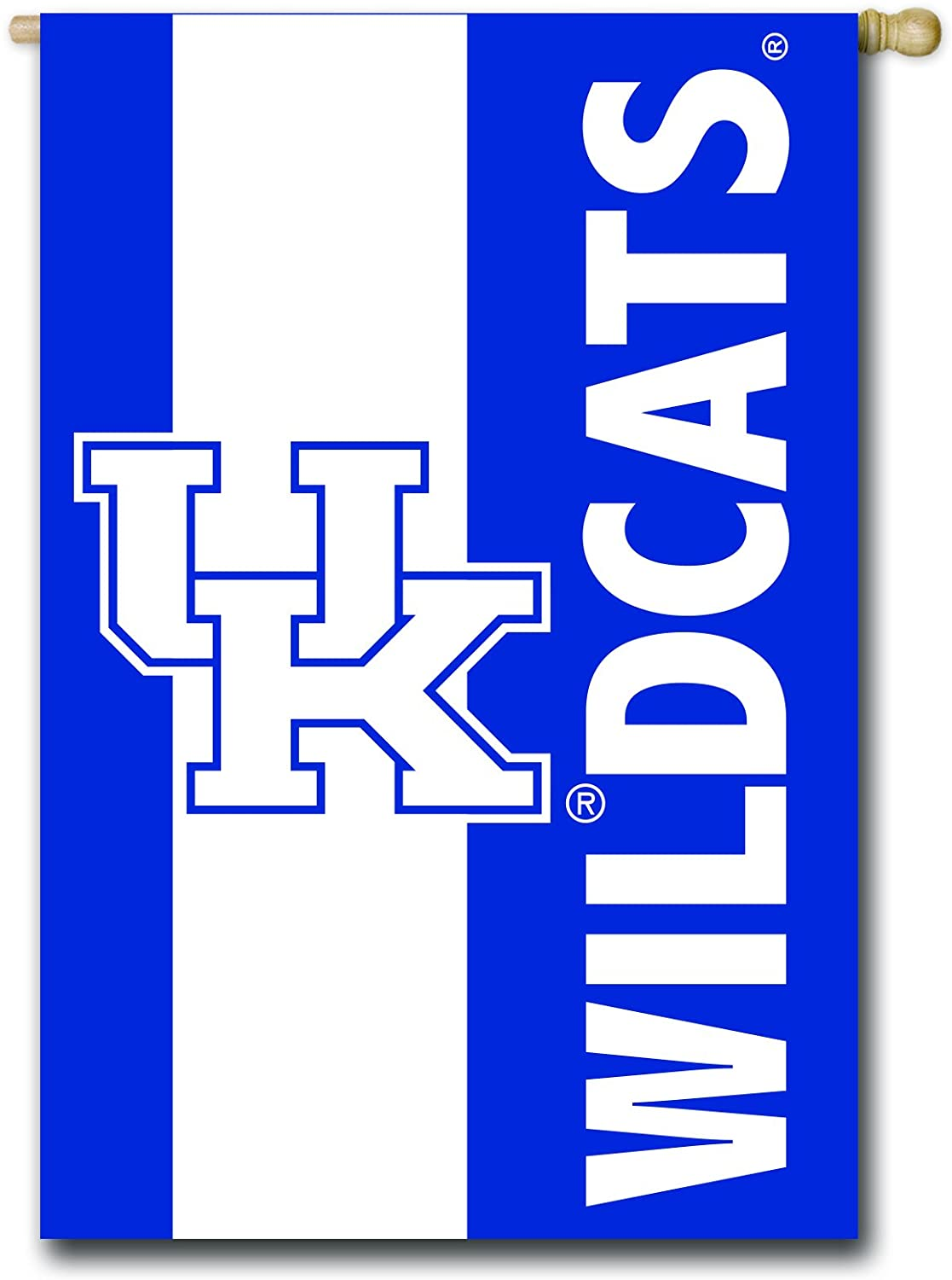 Team Sports America U of Kentucky Embellished House Flag - 28 x 44 Inches