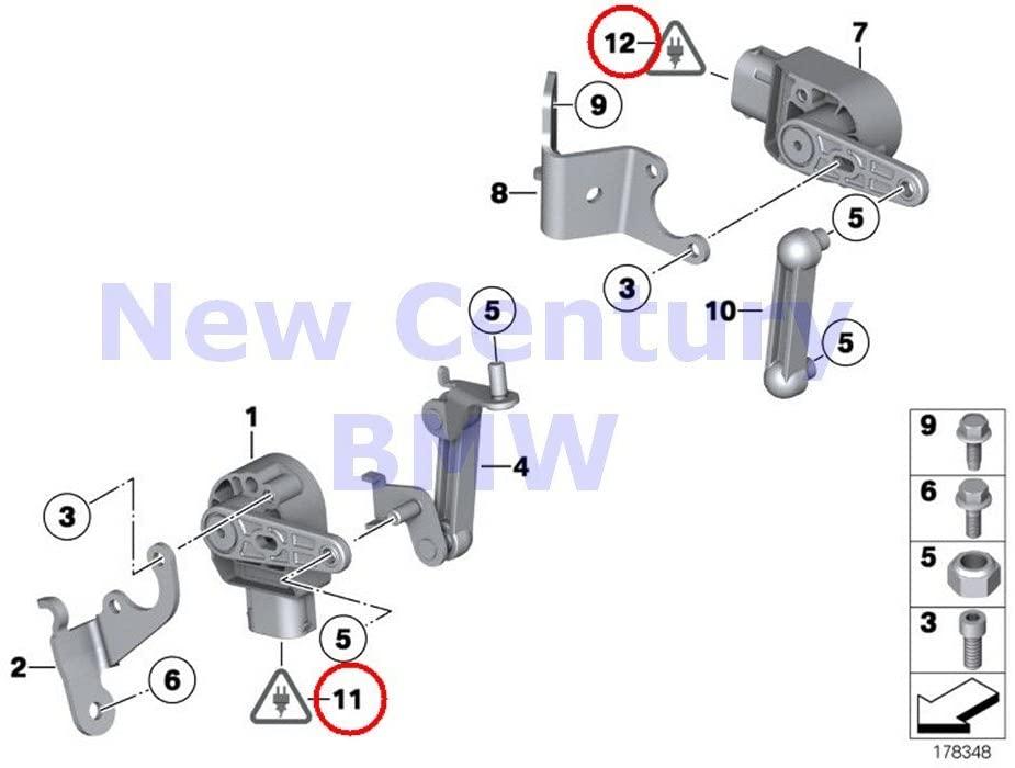 BMW Genuine Socket Housing 6 Pol. 740i 740iL 740iLP 750iL 750iLP 525i 528i 530i 540i 540iP M5 320i 323Ci 325Ci 325i 325xi 330Ci 330i 330xi M3 ALPINA V8 Z8 X5 3.0i X5 4.4i X5 4.6is X5 4.8is 525i 525xi