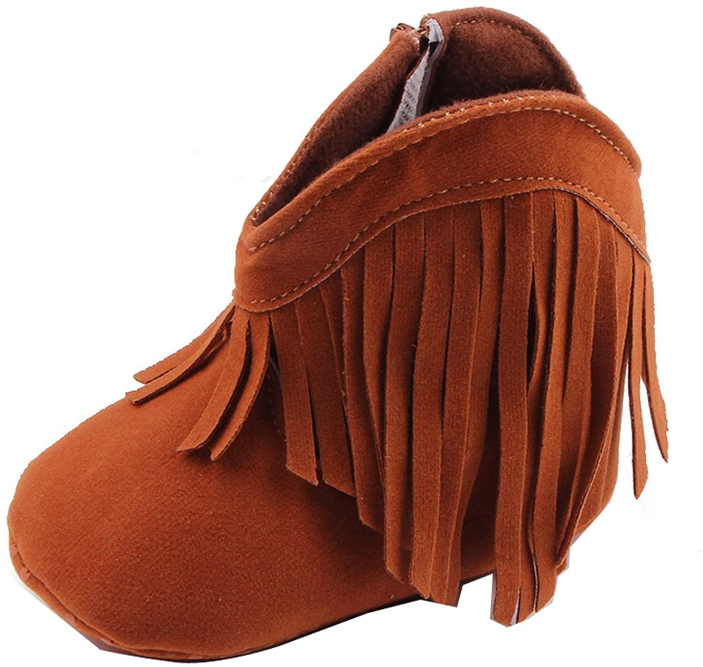Baby Girls Fringe Tassel Princess Boots Infant Toddler Soft Sole Prewalker Shoes