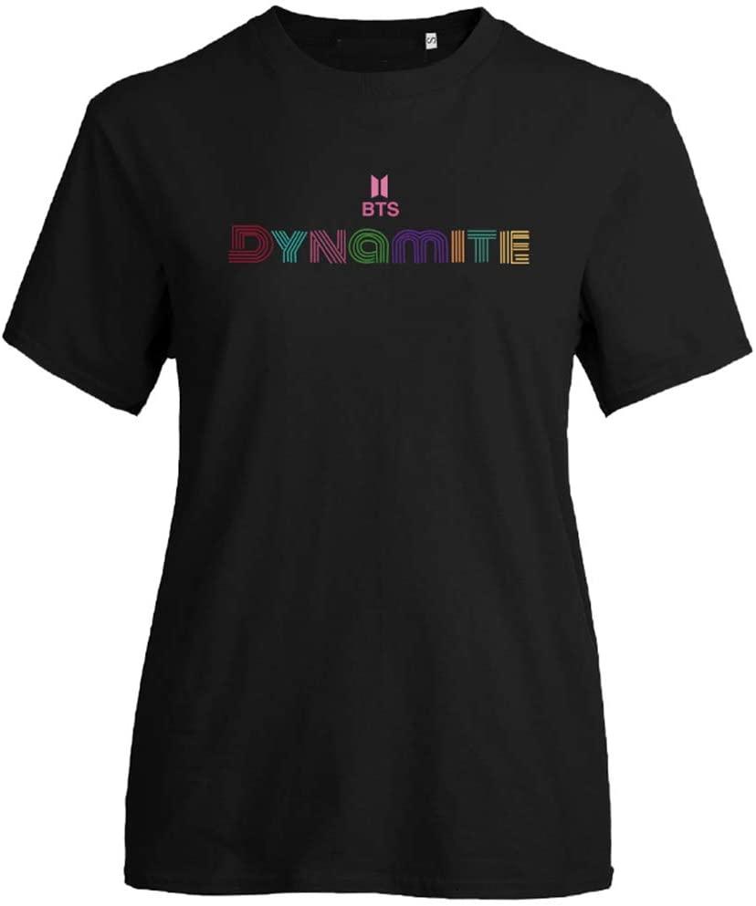 Wei&KYNM Kpop Dynāmite Unisex Fashion Jumper for Women Tee T-Shirt