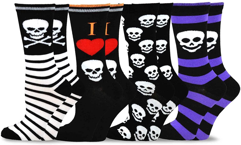 TeeHee Women Halloween Novelty Fun Crew Muti Pack