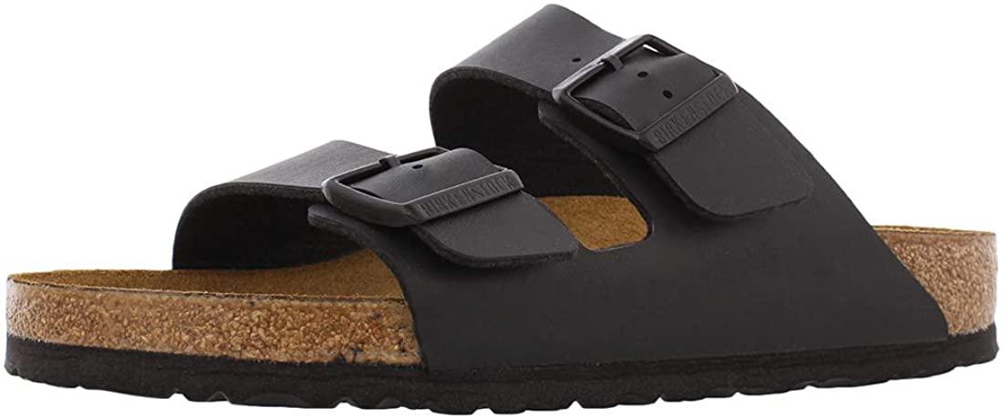 Birkenstock Women's Arizona Sandal Black Birko-Flor Size 39 M EU