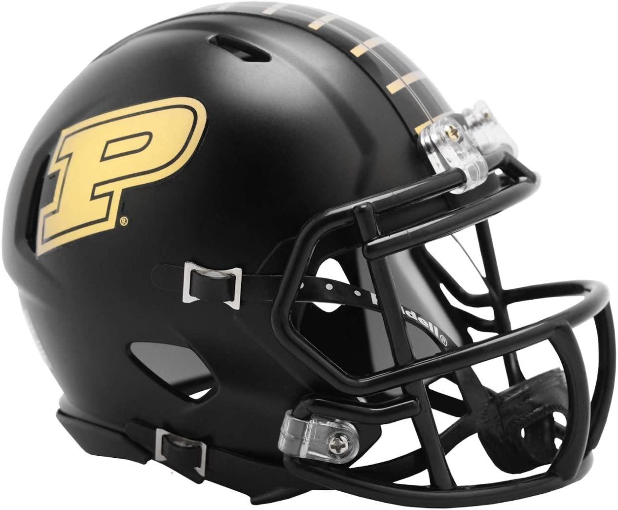 Riddell NCAA Purdue Boilermakers Anodized Black Speed Mini Football Helmet