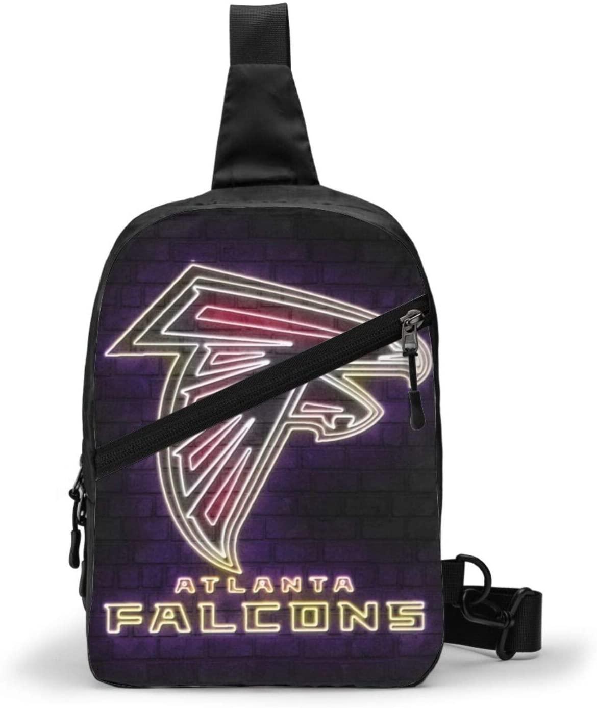 FDLB Atlanta Football Falcon Chest Package Sling Bag Large Capacity Multipurpose Daypack Men Women Chest Shoulder Backpack Casual Crossbody