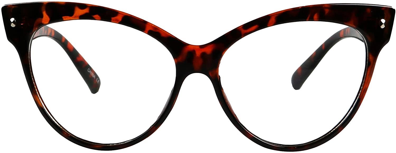 ShadyVEU Oversize Cat eye Sunglasses UV Protection Cosplay High Pointed Frame Clear Lens Retro Fashion MOD