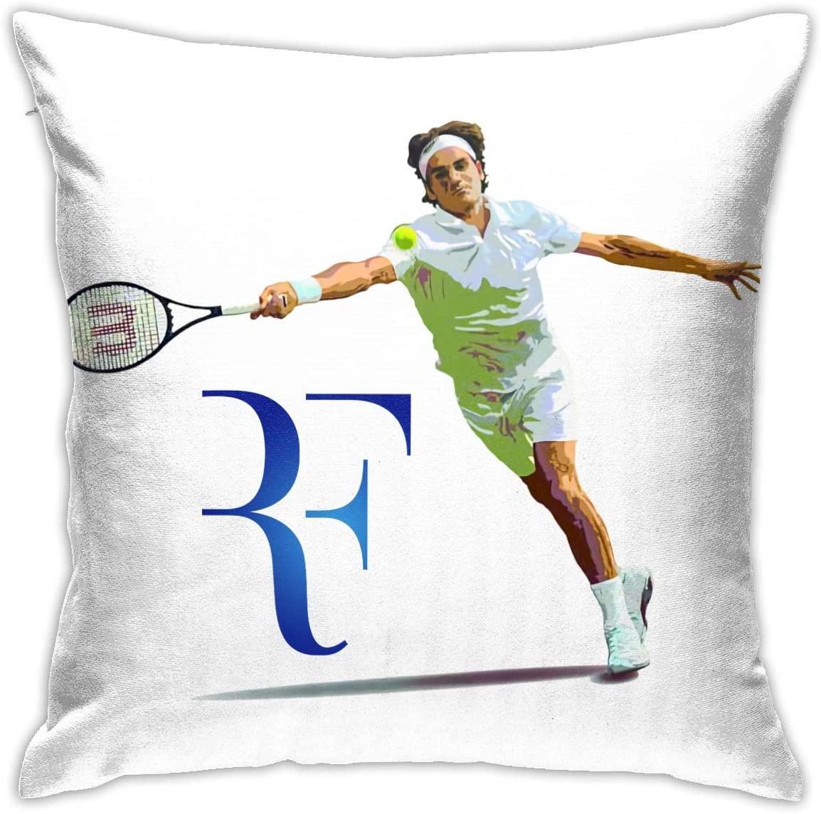 JeccLife Roger Federer Pillowcase Cushion Cover for Sofa 18 X 18 Sofa Pillow Case Decoration Home Deco
