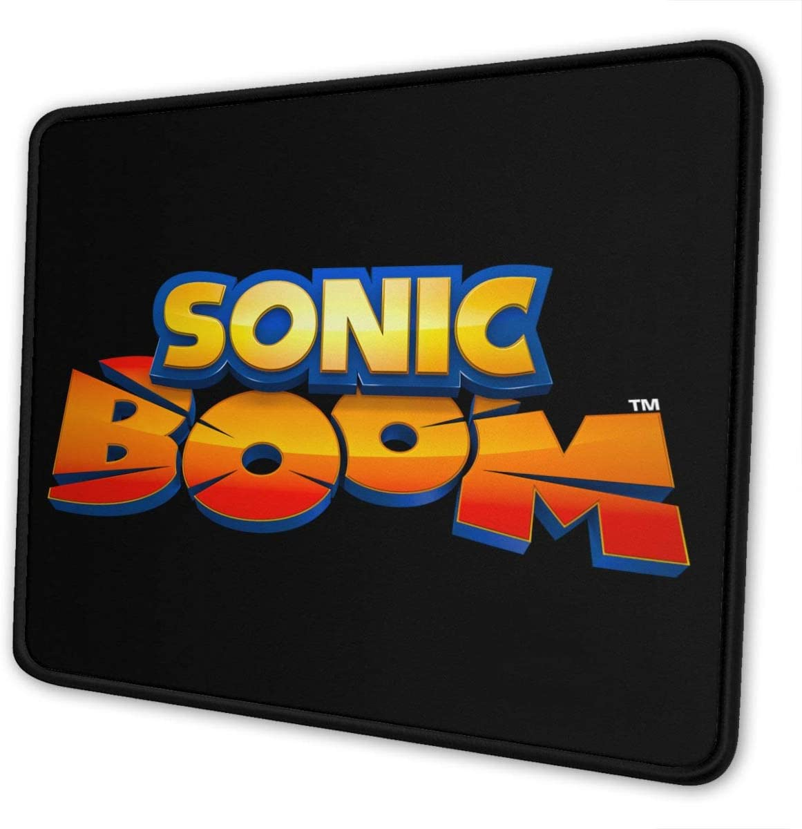 Sonic-The-Hedgehog Gaming Mouse Pad Keyboards Mouse Mat Non-Slip Rubber Game Mousepad with Stitched Edge Wrist Rests Multifunctional Big Office Desk Pad for Pc Computer Laptop 7 X 8.6 in