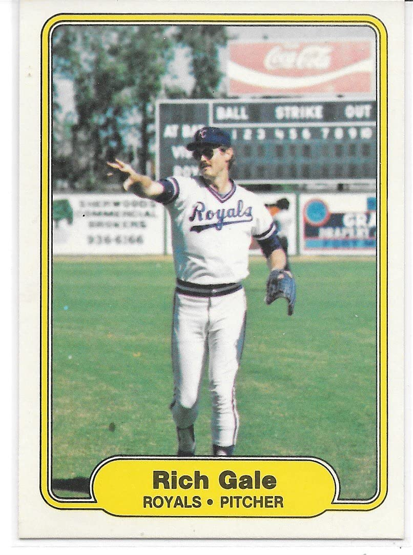 Rich Gale 1982 Fleer Kansas City Royals Card #408