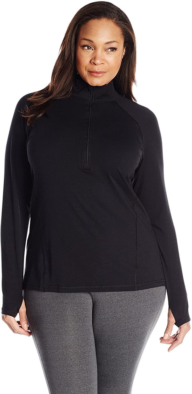tasc performance plus size triumph half zip pullover jacket
