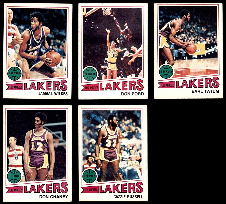 1977-78 Topps Los Angeles Lakers Team Set Los Angeles Lakers (Set) VG+ Lakers