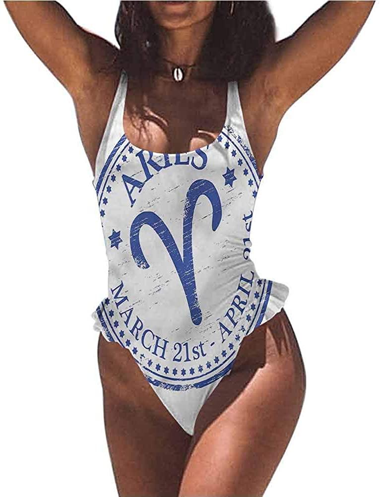 Bikini Set Zodiac Aries, Circle Aries Art Perfect for Pool Parties or The Beach