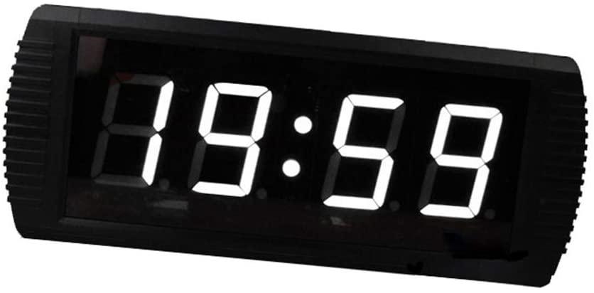 GEQWE Countdown Clock 3-inch LED Digital Countdown Clock Countdown Timing Minutes Seconds Countdown Timer Large Digital Countdown Clock (Color : Black, Size : 39X16X4CM)