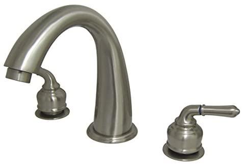 Kingston Brass KS2368 Naples Roman Tub Filler, Satin Nickel