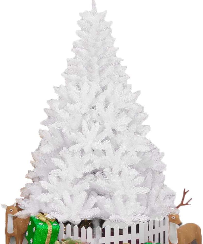Lefran Cherry Blossom Artificial Christmas Tree,Romantic Hinged Spruce Tree Pine Tree Xmas Christmas Decoration