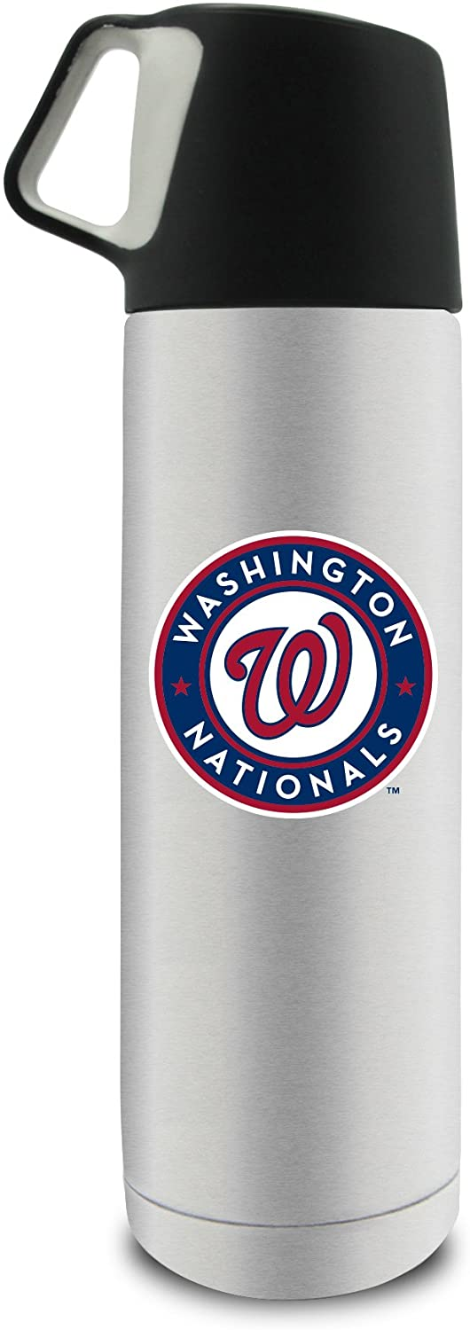 MLB Washington Nationals 17oz Double Wall Stainless Steel Coffee Thermos with Cup