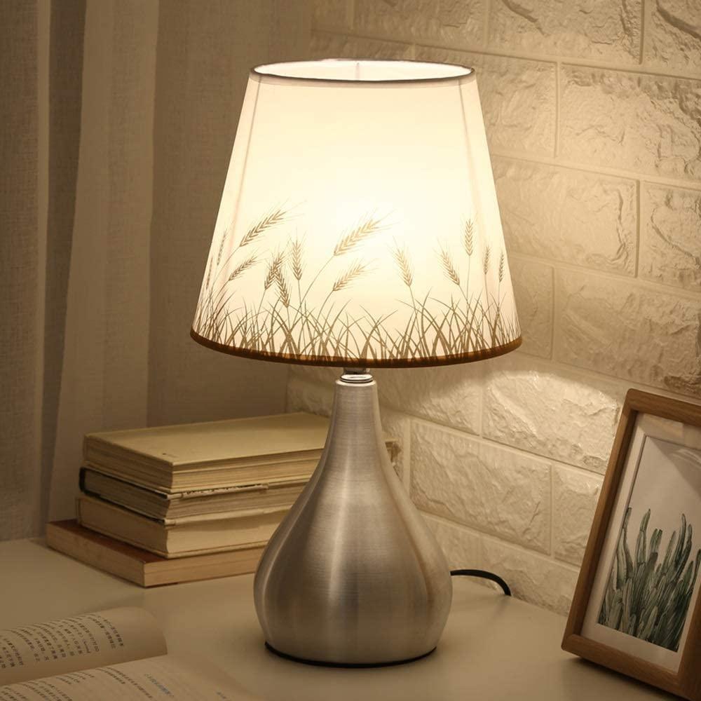 Fashion Bedroom Lamp Modern Household Table Lamp Minimalist Lamp Bedroom Warm Light Bedside Lamp Romantic Wedding Warm Small Table Lamp 25X43CM (Color : C)