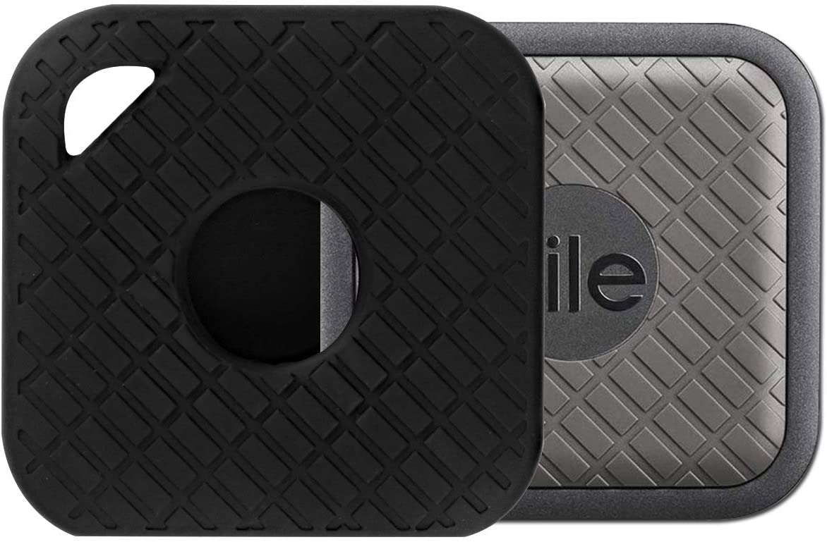 Seltureone Silicone Case Compatible for Tile Sport with Keychain, Anti-Scratch Lightweight Soft Protective Sleeve Skin Cover (Device Not Included)-Black
