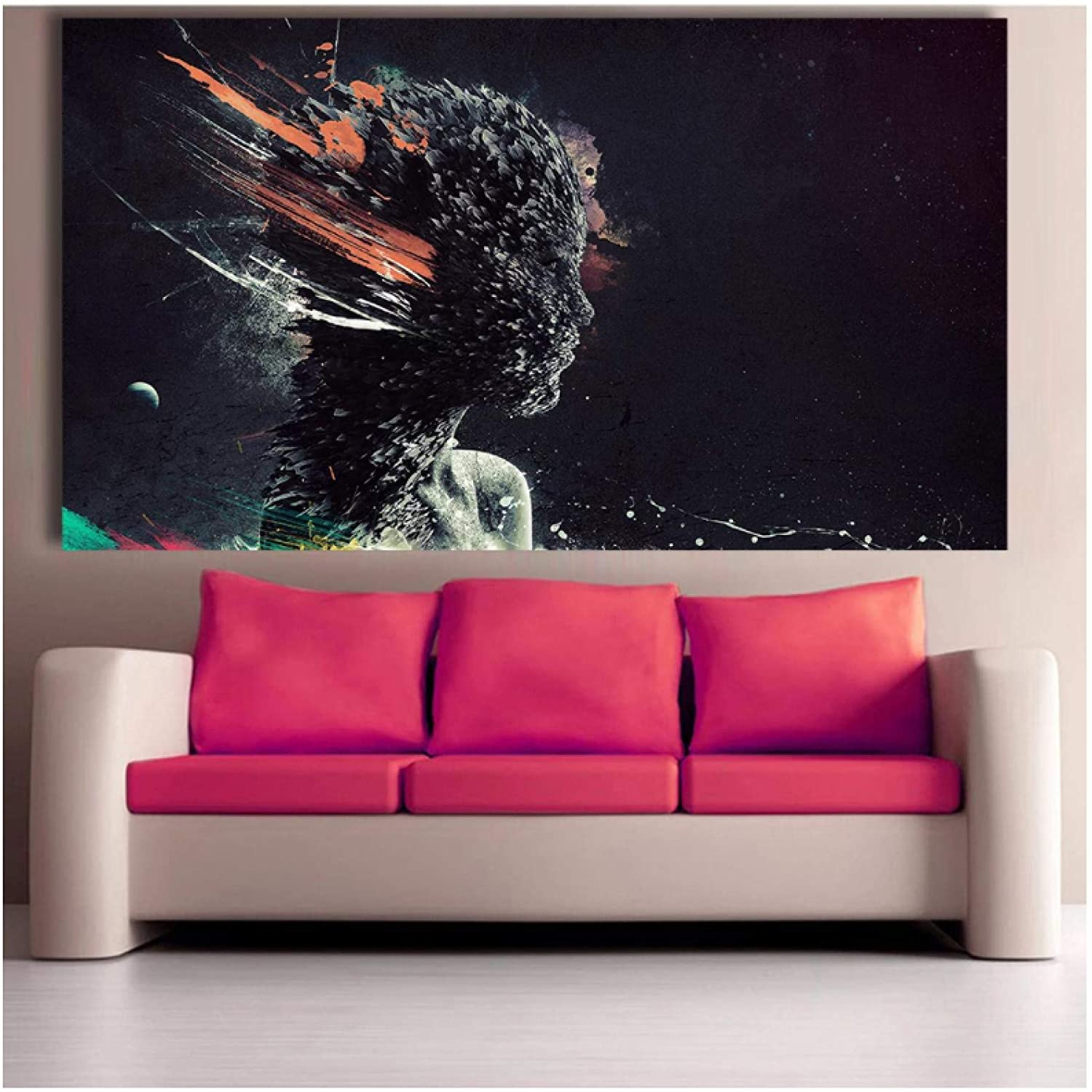 Wall Art ZXYFBH Wall Art Dog Painting Canvas Prints Picture Office Decoration Oil Painting Modern Canvas Paintings Poster 23.6x31.5in(60x80cm) x1pcs No Frame