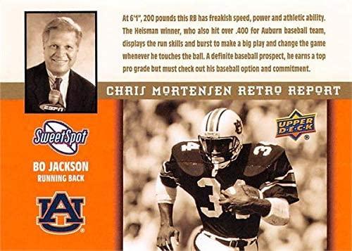 Bo Jackson Football Card (Auburn Tigers) 2011 Upper Deck Sweet Spot Retro Report #MR24