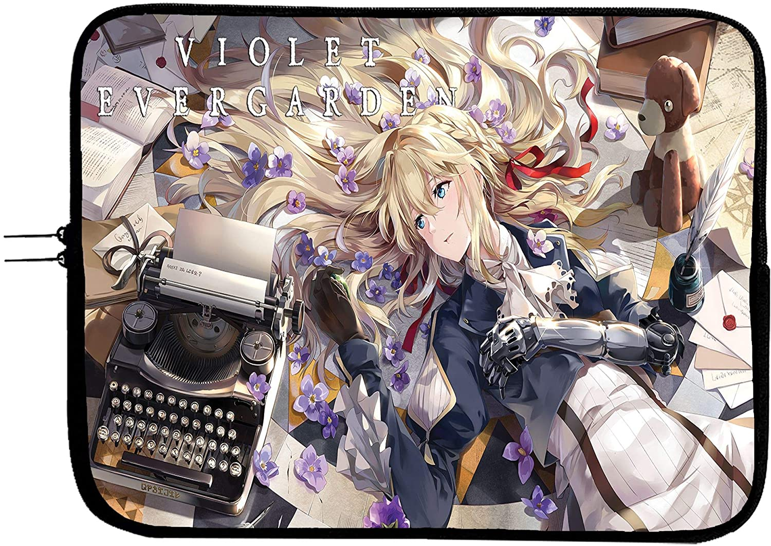 Violet Evergarden Anime Laptop Sleeve Bag 15 Inch with Mousepad Surface/Protect Your Notebook Mac Book Pro MacBook Air iPad or Windows Devices in Style! / Anime Laptop Sleeve Case