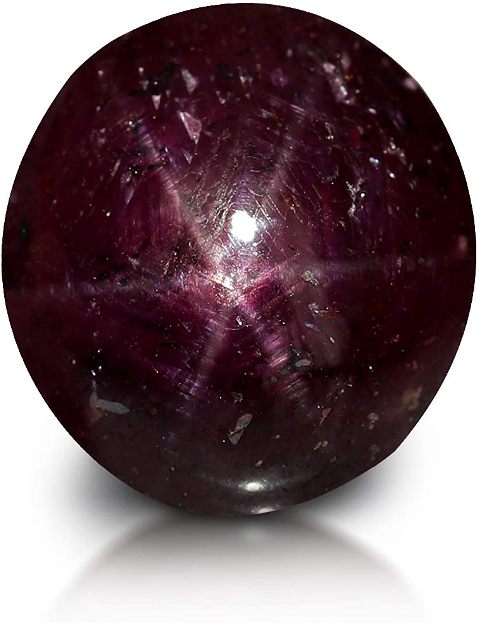 GemPundit Star Ruby 4.95 Carats AGR Certified Unheated Natural Loose Gemstone - 5.5 Ratti