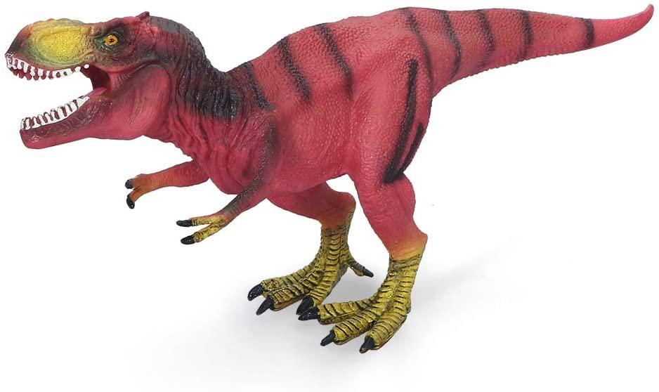 COGO MAN Jurassic Dinosaur Figure Tyrannosaurus rex Toys, Realistic Dinosaur Toys Simulation Action Figure Model Toy for Children Toy Gifts Red
