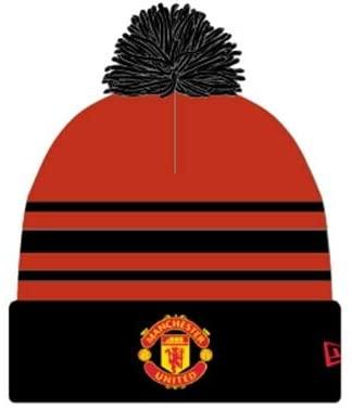 Manchester United - Knitted New Era Red & Black Pom Beanie