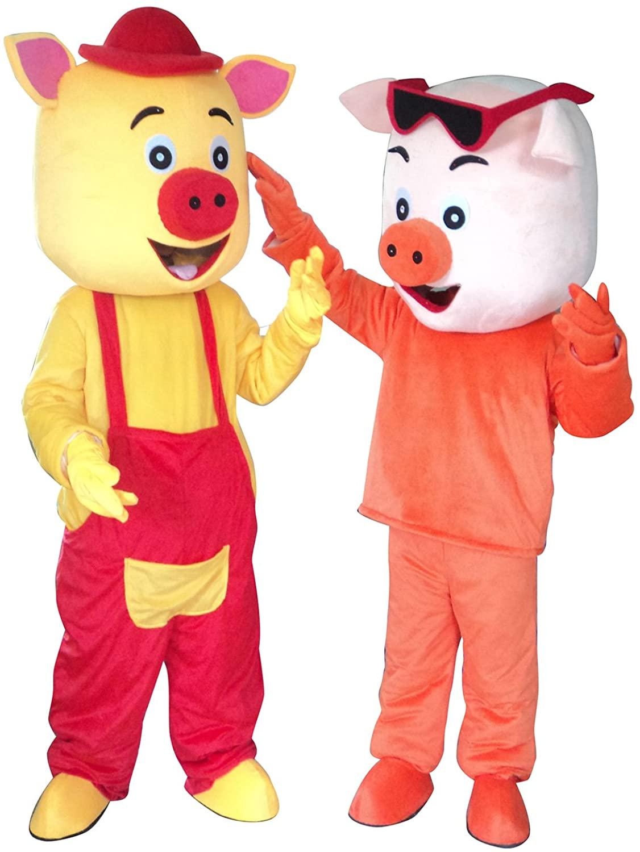 Sinoocean Pig Halloween Easter Mascot Costume Fancy Dress Suit Outfit
