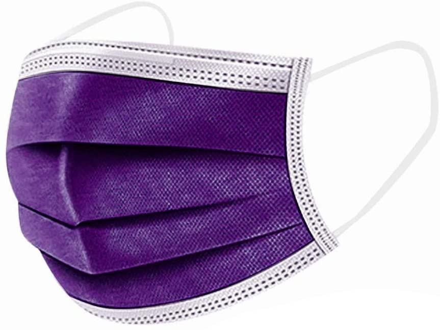 YoungGo 30PCS Adult violet Disposable Face Industrial 3Ply Ear Loop face_mask