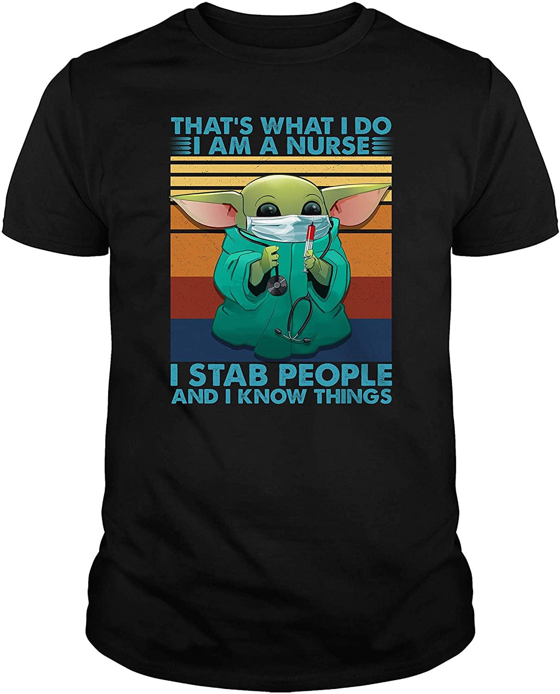 That's What I Do I Am A Nurse Baby-Yoda Quarantine Gift Funny T-Shirt
