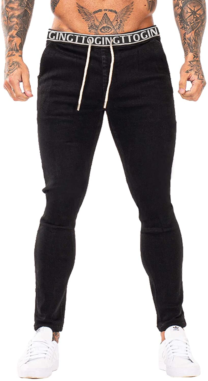 GINGTTO Mens Skinny Jeans Stretch Denim Stylish Jeans for Men