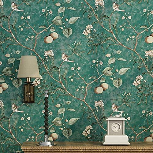American Pastoral Flower and Bird Wallpaper Vintage Apple Tree Mural Wallpapers