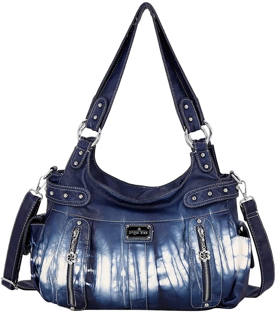 Handbag Hobo Women Handbag Roomy Multiple Pockets Street ladies Shoulder Bag Fashion PU Tote Satchel Bag for Women