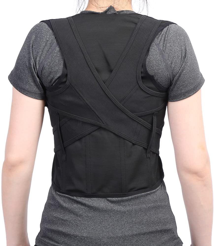 Eurobuy Posture Corrector for Men and Women, Adjustable Adult Children Back Waist Lumbar Shoulder Support Posture Correction Belt for Spinal, Neck, Shoulder & Full Back Pain Relief