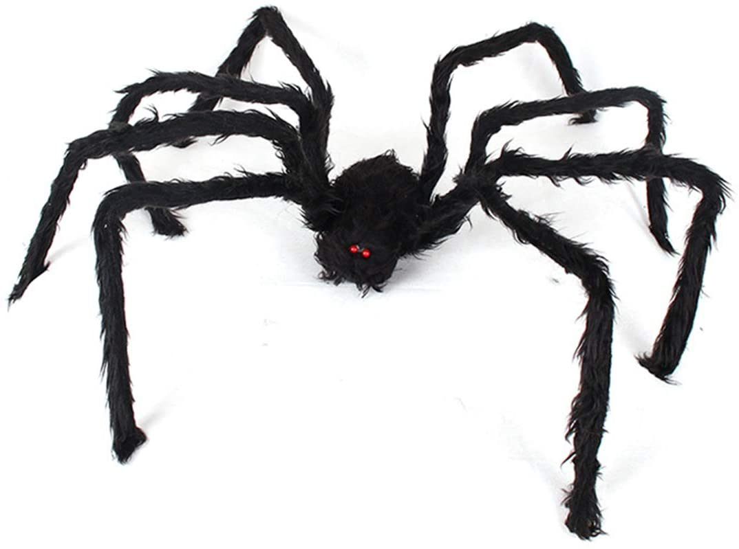 ANREONER Halloween Decorations Scary Giant Spider, Hairy Large Spider Props Outdoor Indoor Halloween Decor Party Favor Prank Supplies