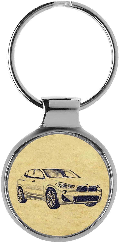 KIESENBERG Key Chain Ring Keyring Gift for BMW X2 F39 Fan A-4623