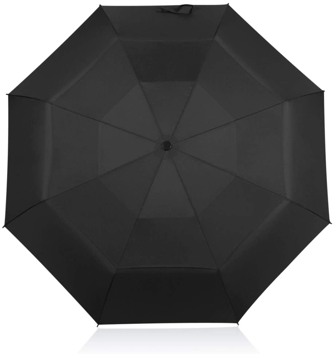 DORRISO Travel Umbrella Windproof Double Canopy Design Portable Automatic Open/Close Womens Mens Rain Umbrellas Black