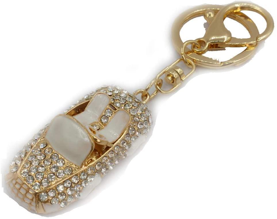 Lyhouse Artificial Car Inlay Rhinestone Key Chain for Keys Women's Bag