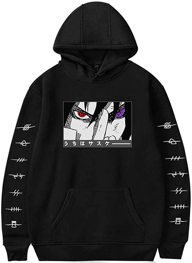 EUDOLAH Men's Fashion Hoodie Naruto Shippuden Adult Men/Women Ichiraku Ramen Best Pleasure Pull Over Fleece