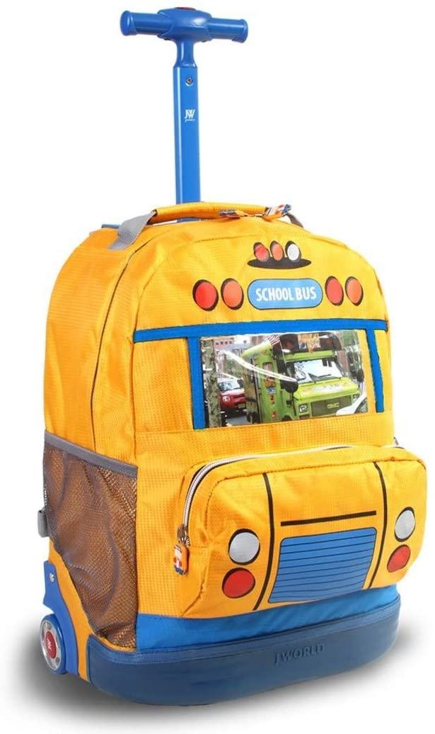 DSOS School Bus Rolling Backpack