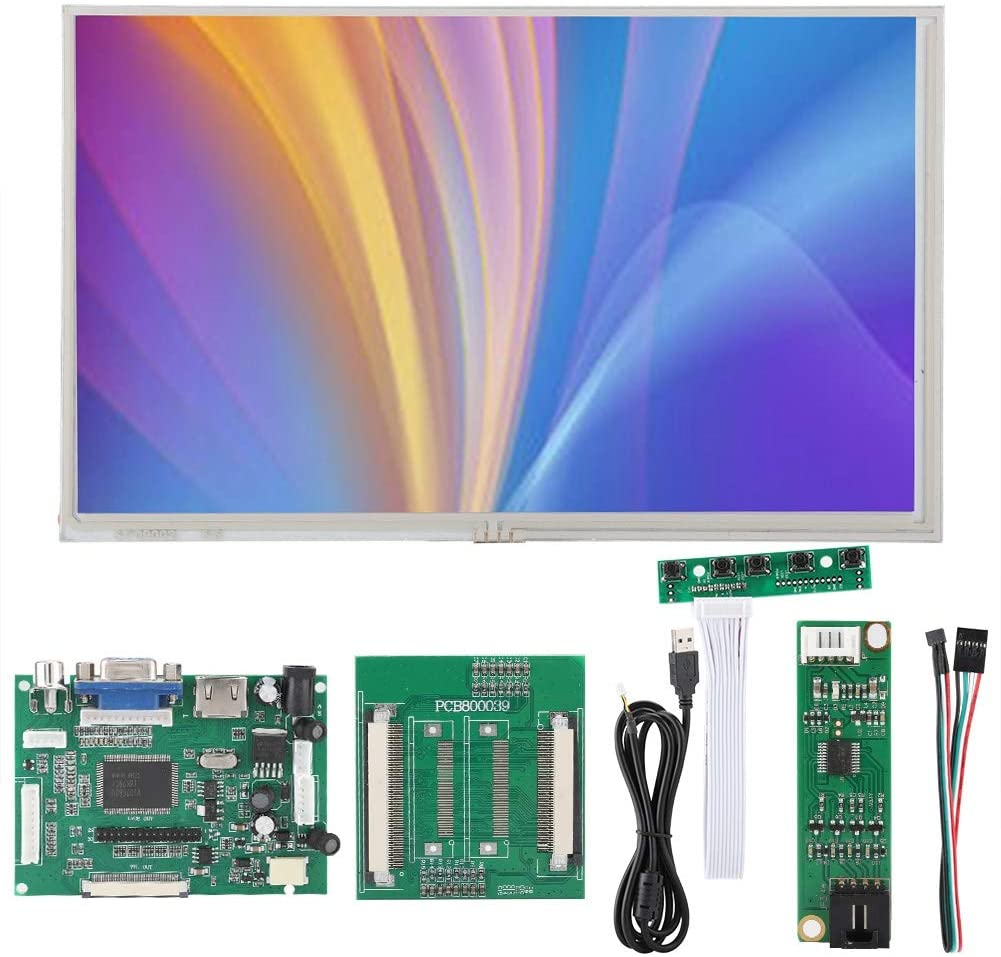 Touch Monitor DIY Kit,9 Inches 1024x600 HDMI/VGA/AV LCD Screen Display for Raspberry Pi,Support All RPI,Mobile DVD,Digital Photo Frames,Automotive Systems
