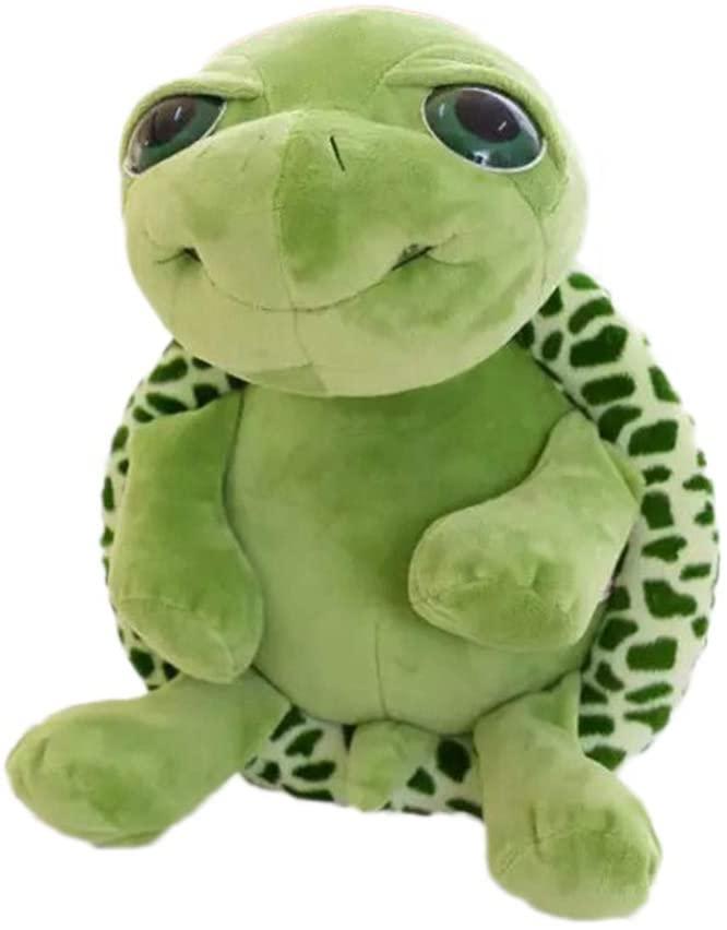 STOBOK Super Cute Big Eye Turtle Plush Toy Stuffed Plush Doll Toy Cartoon Adorable Animal Toy Christmas Decoration (18cm Green)
