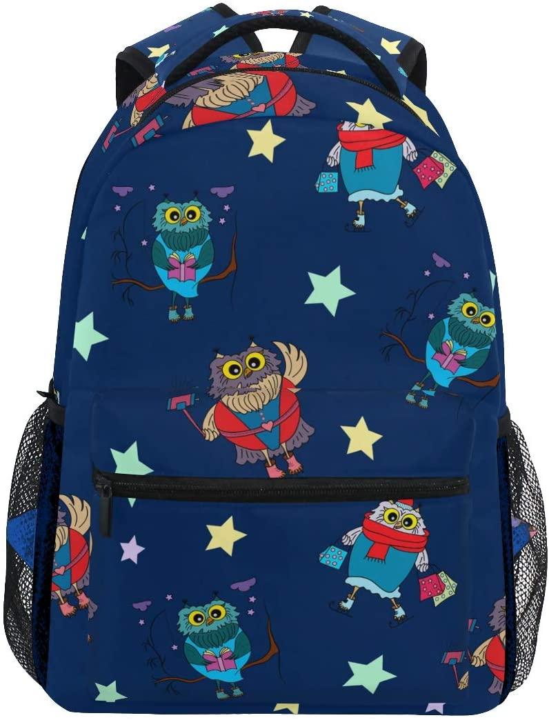 Star Owls Backpacks Travel Laptop Daypack School Bags for Teens Men Women