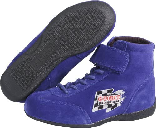G-Force 0235100BU RaceGrip Blue Size-100 Mid-Top Racing Shoes
