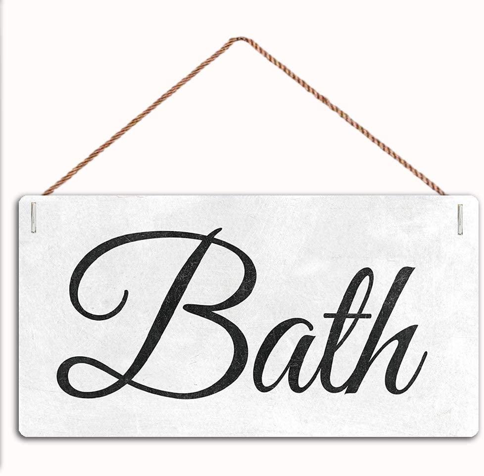 MAIYUAN Bath Sign Home Decor Wood Sign Plaque 12