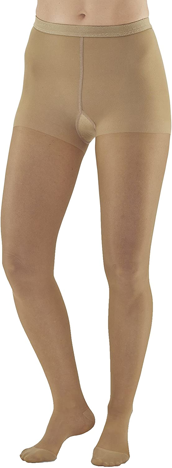 Ames Walker Women's AW Style 33 Sheer Support Closed Toe Compression Pantyhose 20 30 mmHg Beige Medium 33 M Beige Nylon/Spandex