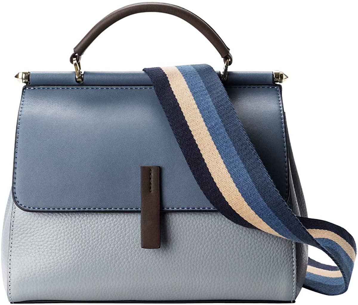 LAORENTOU Genuine Leather Handbags for Women Shoulder Bags Ladies Satchel Crocodile Skin Purse Handle