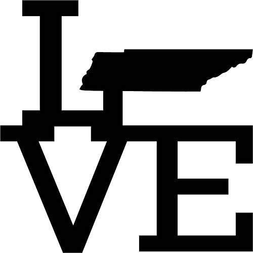 Love State Tennessee Raw Metal Wall Art, Home Decor